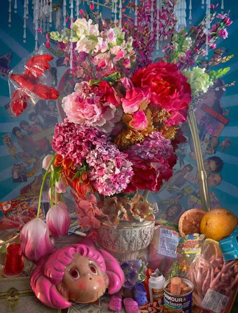 Here is David Lachapelle's take on Baroque still life paintings.