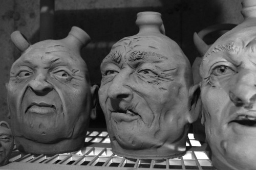 Check out a few example face jugs from the movie!