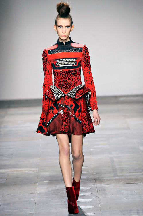 libraryland:glashaut:(via The Clothes Horse: Mary Katrantzou A/W 2012) Typewriter dress?