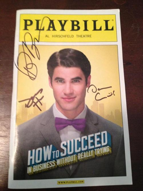 "Want to win a signed Darren Criss H2$ playbill? Here's how to win:  Head over to Ology.com and sign up to help Darren win the ""Hottest Male Actor"" Contest, going on now through Friday, March 9th. Once Darren's ""Ology"" reaches 500 members, we will choose one Ology member to win this signed playbill, which we will ship anywhere in the world. :) To be eligible, you must make at least ONE post. DCST membership not necessary, though encouraged.  Happy posting!"