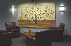 Donor tree mural I completed for Colorado's Families First.  Each leaf has a donor's name in it and it is extremely easy to keep adding leaves/ names.