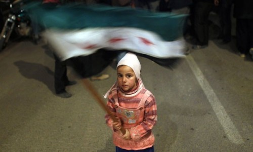 theweekmagazine:  The children of Syria's revolution: The Red Cross is still shut out of Homs' Bab Amro district — which was a rebel stronghold before a ruthless crackdown — and the latest reports from inside tell grisly tales of the military targeting boys for execution. Nevertheless, across the country, Syrians of all ages continue to protest President Bashar al-Assad's violent reign. More photos available here