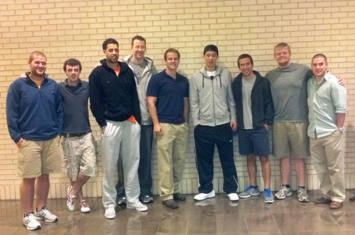 3/6/12 Fan Pic Of The Day - Jeremy Lin, Landry Fields, and Steve Novak at the movie theatre last night in Dallas at AMC Northpark
