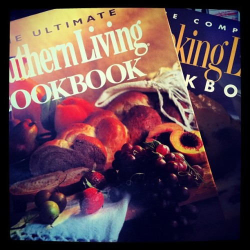 A present from my momma! 2 books every cook needs! The ultimate southern living cookbook and the complete cooking light cookbook! (Taken with instagram)