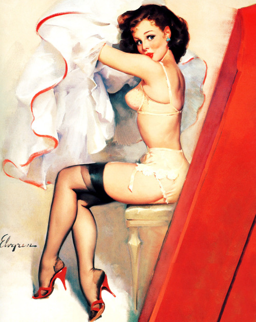 """Screen Test"" by Gil Elvgren 1968"