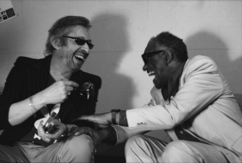 awesomepeoplehangingouttogether:  Serge Gainsbourg and Ray Charles