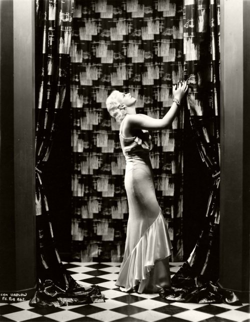 Deco overload!! No such thing ;) screengoddess:  Jean Harlow 1929