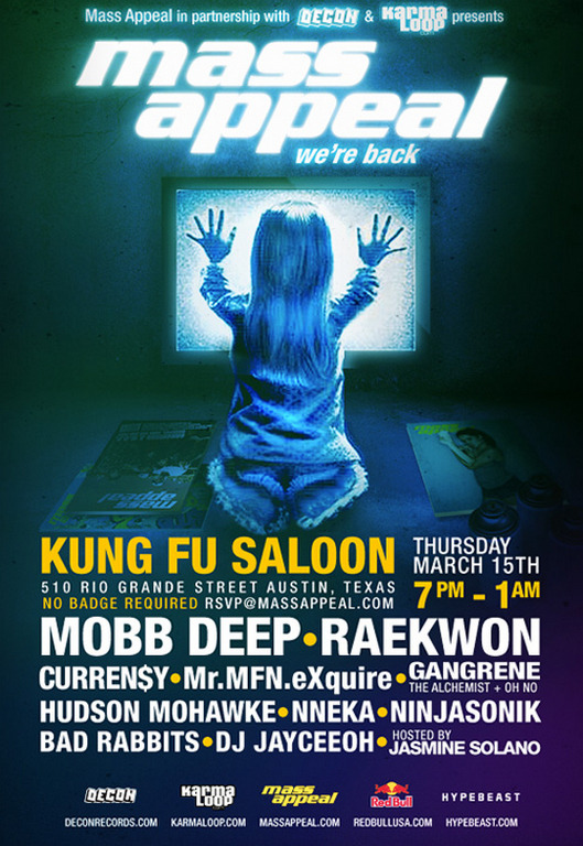 MASXSW APPEAL 2012 Kung Fu Salon | 3/15/12 | 7pm-1am | rsvp@massappeal.com