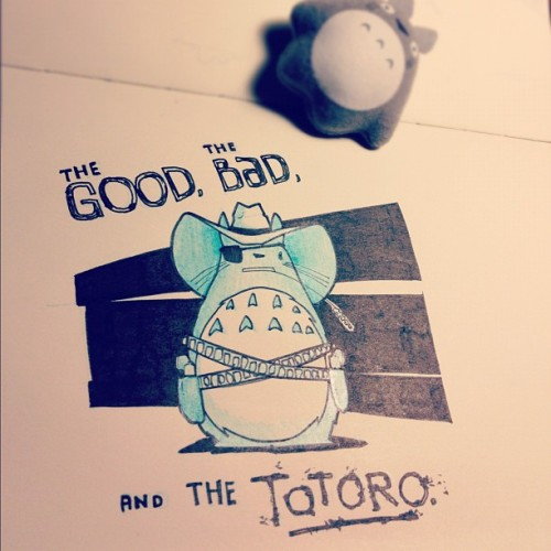 jasongurley:  The Good, the Bad, and the Totoro. (Taken with instagram)