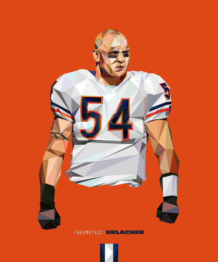 Geometric Urlacher | Purchase: Wall Art | T-shirt
