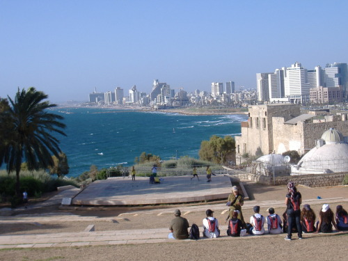 Israel Photo of the Day - Jaffa Port  This picture, for us, encapsulates a Summer in Israel. Some CVK participants are sitting near the port of Yaffo, overlooking the Mediterranean Sea and the iconic shoreline of Tel Aviv. No matter where you're spending your Spring Break (at home, at work, indoors, outdoors, cold weather, or warm weather) — look at this picture to find some peace of mind.