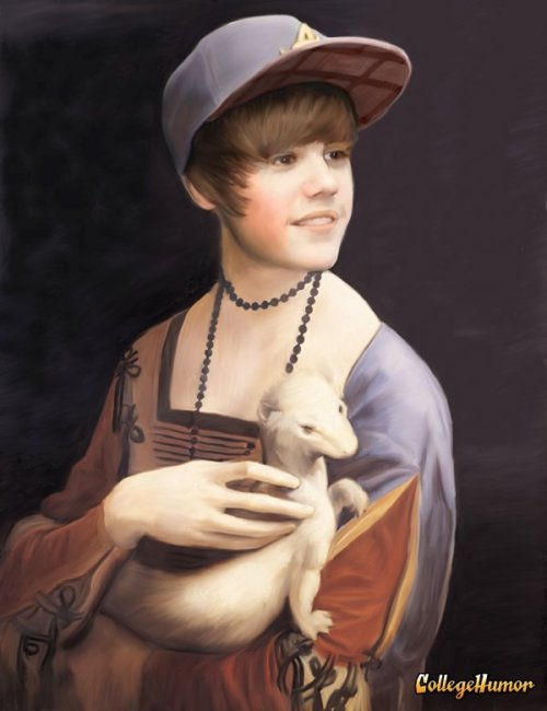 "15th Century Justin Bieber   The cover for his new single, ""Urmine."""