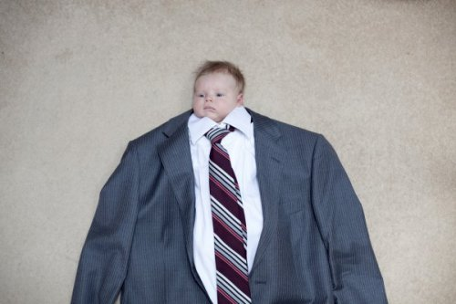 Business Baby   He only drinks 1% milk.