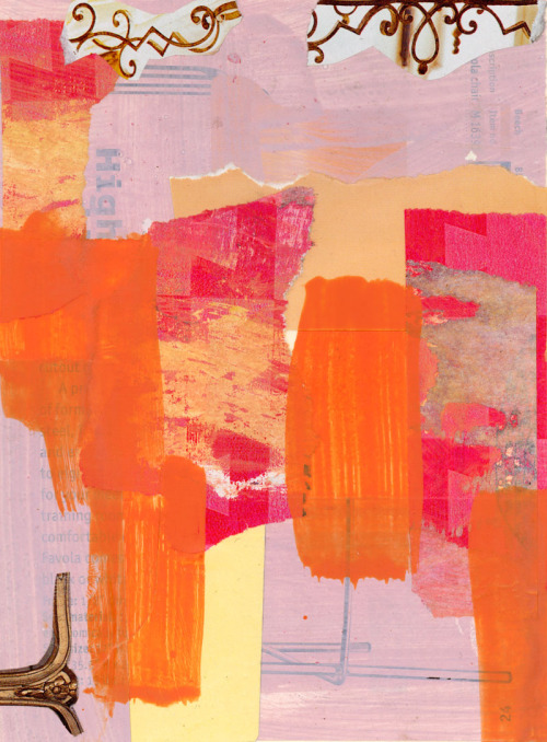 mixed media collage in pink http://alexandrasheldon.com/index.php?page=contactus