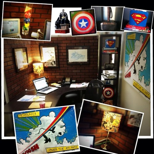 Another office pic with details of all my nerd decor. #geek #toys #interior #design #nerd (Taken with instagram)