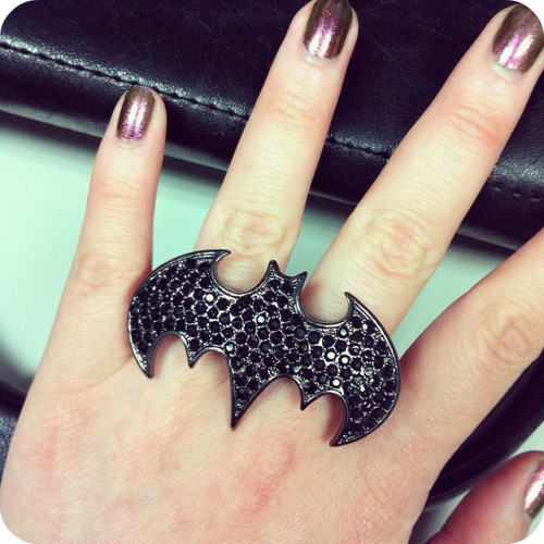 My Batman knuckle duster ring that I got for a steal last year.