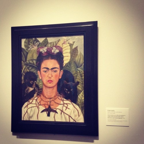 Hanging with Frida. LACMA, Los Angeles, California. March 2012.