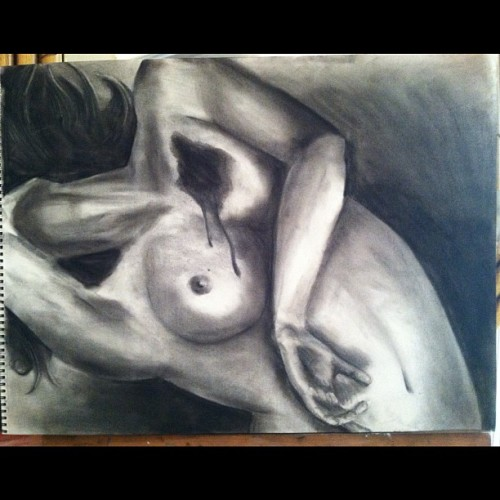 "Boom (16""x24"" charcoal on paper) (Taken with instagram)"