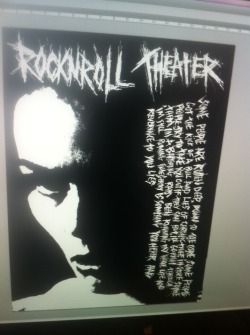 ROCKNROLL Theater Art Work In Progress…
