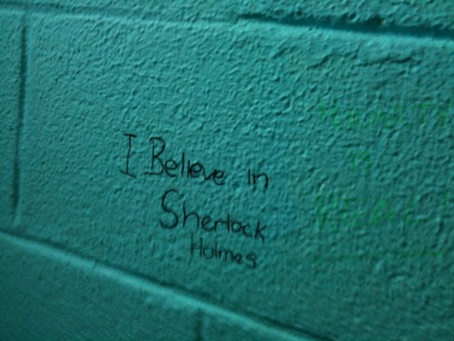 Sometimes the graffiti on the bathroom walls at school is worthwhile…