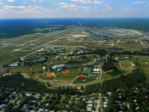 A lovely view of Embry-Riddle's Daytona Beach campus.