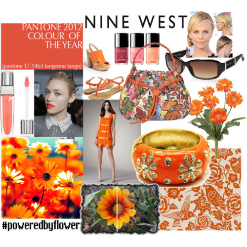 Springtime Tangerine by prettyrecklessdesigns featuring wedge heel shoes