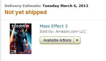 What are you doing Amazon? Release date delivery, c'mon now.