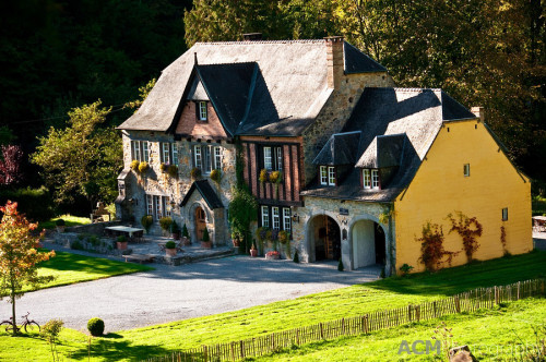 Traditional stone house in Wallonia