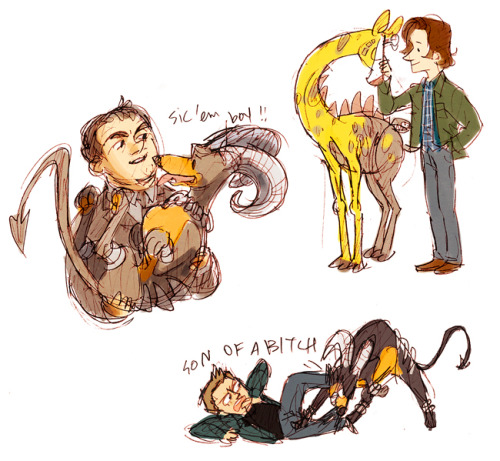 hoursago:  sam also has a stantler and a sawsbuck  What is Dean's pokemon?