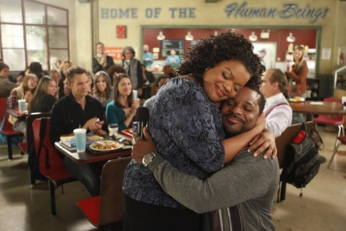 "'Community': 'Urban Matrimony and the Sandwich Arts' Teaser At the PaleyFest Community Viewing Party in New York last Saturday, fans of the comedy gathered to participate in a ""Greendale Pep Rally"" (complete with costume and poster contests) and watch the upcoming episode ""Urban Matrimony and the Sandwich Arts."" Event-goers were also able to watch the PaleyFest panel livestreamed from L.A., which was also available for viewing online. Keep reading for some teasers (warning: mild spoilers ahead) and general thoughts on the episode, which airs on March 15 at 8pm on NBC.Shirley's Wedding Brings the Group Together  Proving why we sorely missed Community during its hiatus, ""Urban Matrimony and the Sandwich Arts"" is an example of why this great sitcom is one worth saving. While Community episodes generally swing between the big meta episodes and the smaller, more grounded ones, this episode was a prime example of the latter, focusing on how Shirley's upcoming nuptials affect each member of our favorite dysfunctional study group. Without giving too much away, the episode highlights several relationships in the group. For fans who have taken sides about who Jeff should end up with, there are plenty of moments to go around (both Jeff/Annie and Jeff/Britta fans should be happy). Plus, we literally see into Jeff's heart. (Spoiler alert: his true love might be alcohol.) According to the wild cheering at the Paley event, however, it seems like the preferred Jeff pairing is with his favorite karaoke buddy Dean Pelton. It's nice to have an episode focused on Shirley, played by the lovely Yvette Nicole Brown, who can sometimes fall through the cracks in such a wacky ensemble. What's also great is that all the characters are showcased — while Shirley is the focus and her wedding the reason everyone has gotten together, the episode really works for all the characters.  New Sides to Familiar Faces When the others face the wedding of one of their own, secrets are revealed and strangeness ensues. Look for Britta to discover a new talent that hilariously throws her into a tailspin. We find out the meaning behind Shirley's high-pitched Miss Piggy voice, which got a giant laugh at the screening. Jeff gives a speech that doesn't go so well and Troy and Abed try to act normal with disturbing results. Plus, Chevy Chase gets to do some classic physical comedy in the end tag. At the panel, Dan Harmon talked about this season as the darkest and the upcoming episode clearly has some dark moments. But what shines through most of all is the love shared among this wacky, broken group of people that rely on each other. At the end of the day Community really is about human beings, with all their weird flaws and foibles, and that's why we love them.  One last teaser: we get another glimpse of our favorite furry vent-dweller. —Read the full article and sound off in the comments at BuddyTV HERE! SIX SEASONS AND A MOVIE Y'ALL!!"