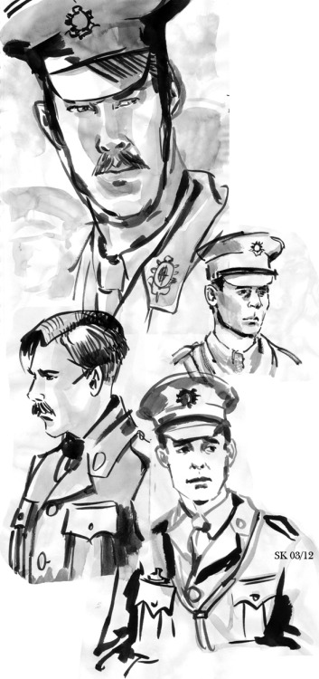Some War Horse related sketches.