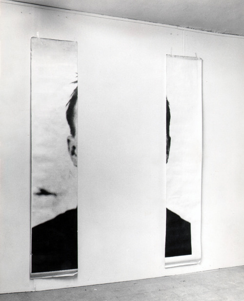 alecshao:  Michelangelo Pistoletto, The Ears of Jasper Johns, 1966