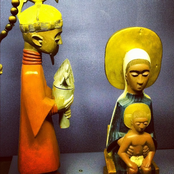 African interpretation of Mary and the Christ Child (Taken with instagram)