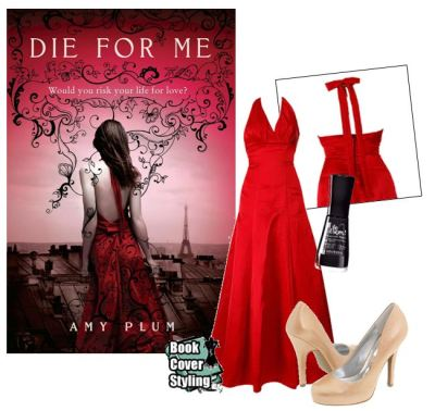 Die For Me by Amy Plum I just had to select one of my favourite covers to do for my first post.  I found the perfect dress, a satin halter-neck dress from Carnaby Dress Boutique. Went with a nice touch of black nailpolish to match the design swirls, and with Noir de Chine from Bourjois - a Parisian brand. Finished off with a pair of understated nude heels so as not to overwhelm the whole look.