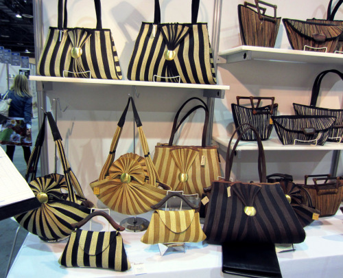 We are looking forward to the arrival of these elegant striped hand bags! Look for them in our storenext month!