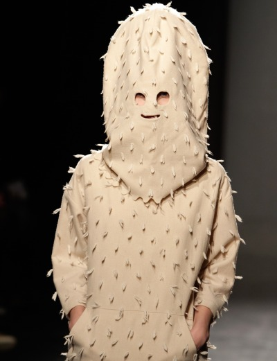 today:   Are we there Yeti? The Julien David Fall/Winter show was inspired by the legendary Abominable Snowman of the Himalayas. (No, really.) Slideshow: Best of bizarre style on the Paris runway  THE STUFF OF NIGHTMARES  I was wearing paper bags over my head BEFORE it was cool.