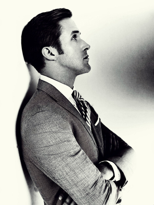 anatomyofanoxford:  mrporter:  Mr Ryan Gosling, tailored.  Hate on it all you want, but Ryan Gosling really is bringing back old Hollywood style by resetting the standards on men's fashion. He's quickly become a global icon and doesn't seem to be stopping anytime soon. The only thing more inspiring and noteworthy than his sense in style and class, is the confidence that accompanies those facets of his personality.