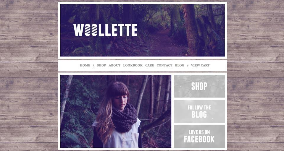 WOOLLETTE website design