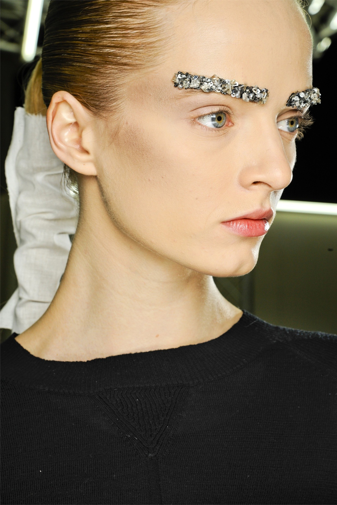 BEAUTY: Daria Strokous in Chanel fw12 backstage.