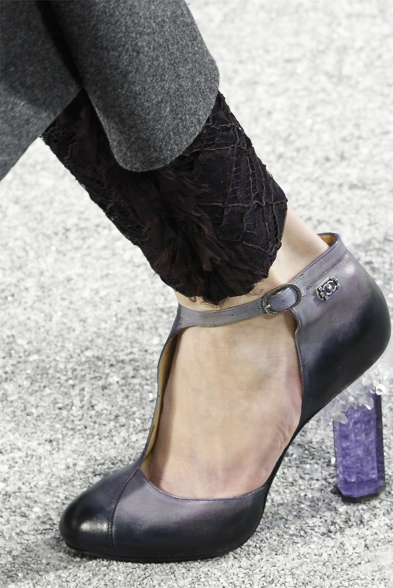 Details: the shoes at Chanel fw12. rocky.