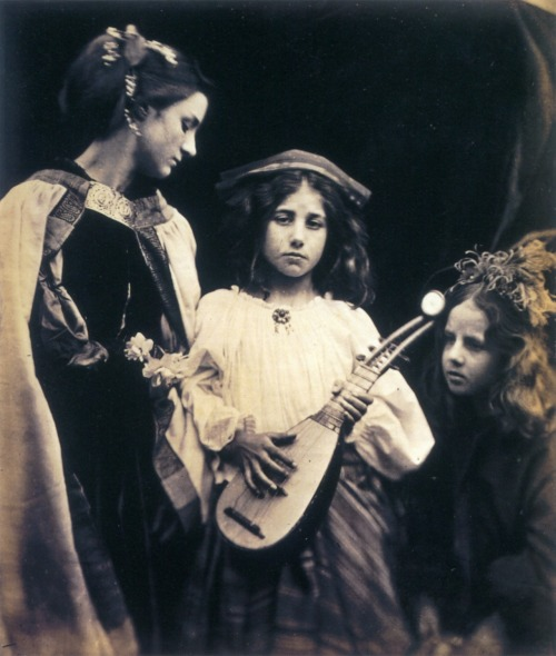 "The Minstrel Group, Julia Margaret Cameron, late 1870s ""We sing a slow contented song and knock at Paradise"""