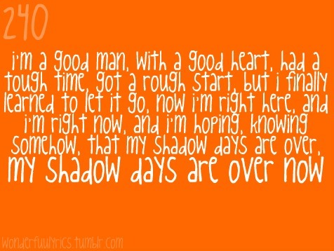 Shadow Days-John Mayer