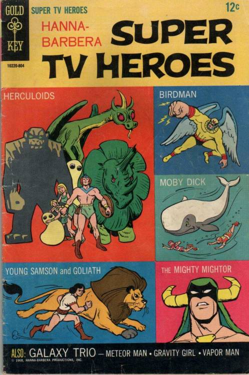 Gold Key produced so many cool comic books. The ones based in TV series were the best (vía kidnappervanimg).  Hanna-Barbera Super TV Heroes (1968)