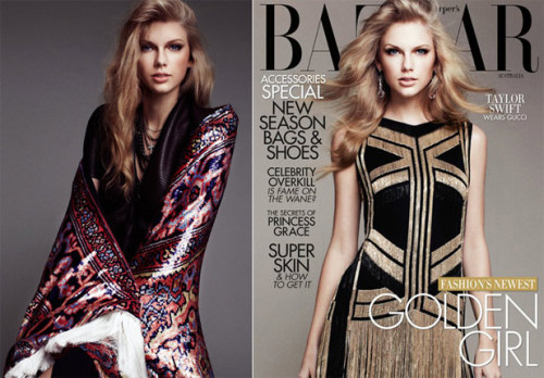 Imma let you finish Harper's Bazaar, U.S. edition, but Australia has the best version of the magazine of all time. All time! Why is that? Because in the April issue, Taylor Swift wears a shirt designed by none other than Kanye West, who famously interrupted the country siren's acceptance speech at the 2009 MTV Video Music Awards. (Read More HERE…)