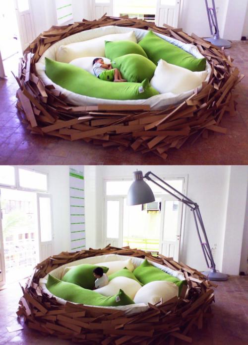 szymon:  Birdsnest bed by O*GE
