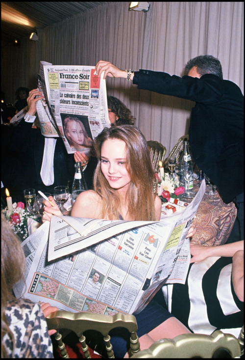 madnessisfreedom:  Vanessa Paradis at the Césars in 1990