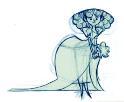 Rough Bride lady sketch I'll probably lightbox lineartify this thing tomorrow (i can't take on that curly hair tonight O_o) but here's a crazy rough sketch for now.
