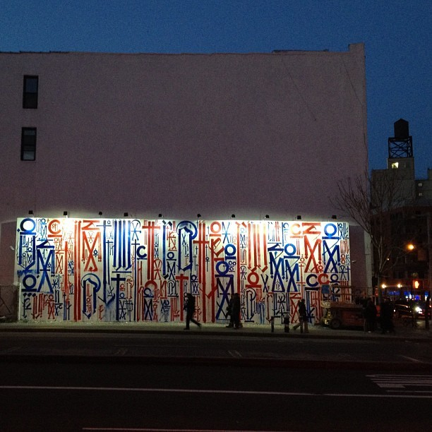 New Retna on Houston and Bowery #nofilter #streetart (Taken with instagram)