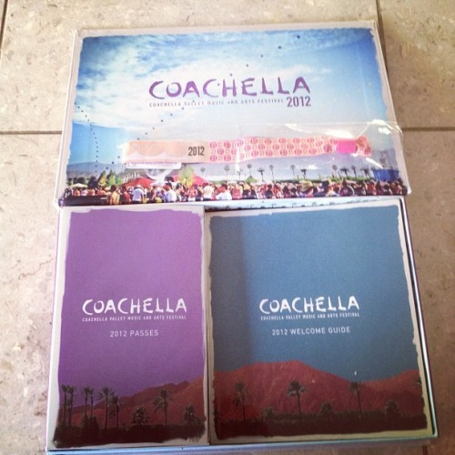 My Coachella tickets came! It is so beautiful!!! (Taken with instagram)