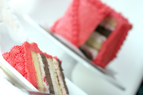 neapolitan ice cream cake.